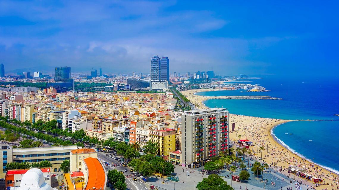 Urlaub am Strand in Barcelona